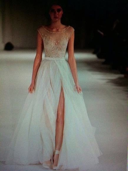 prom dress wedding dress white dress floor-lenght