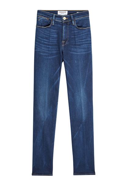 Frame Denim Le High Straight Leg Jeans  in blue