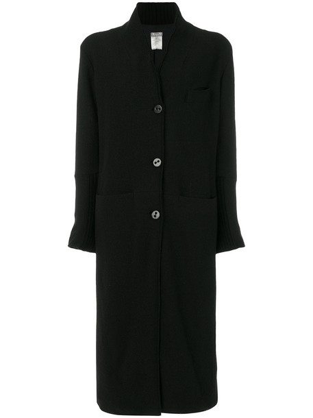 Kristensen Du Nord coat women cotton black wool