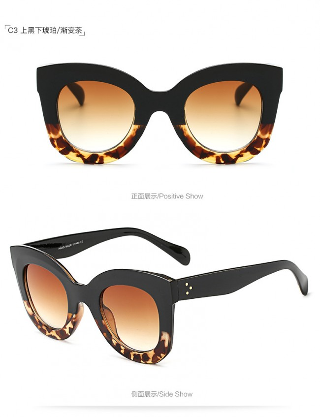 Elegant womens 1950's fashion cat eye sunglasses