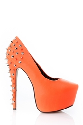 shoes,liliana,high heels,platform high heels,sexy pumps,orange
