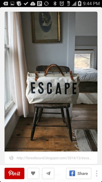 bag canvas bag escape tote bag travel bag travel lifestyle