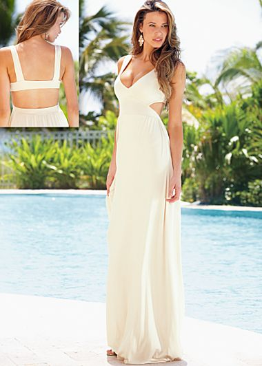 Cream Open back maxi dress from VENUS