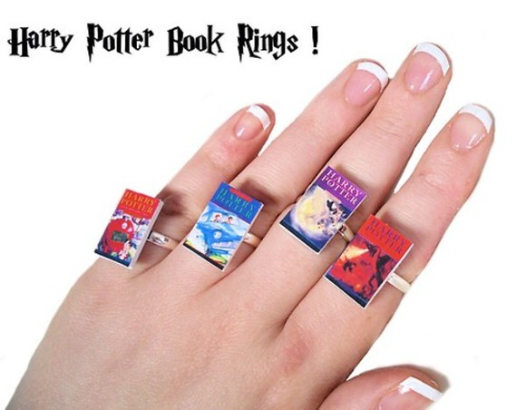 harry potter jewels book rings
