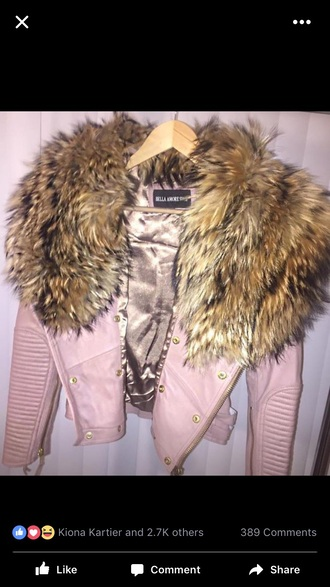 jacket pink fur