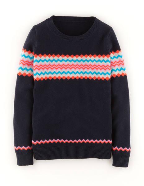 Fair isle sweater (navy)