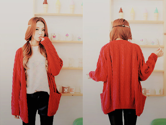 gilet jacket girl red beautiful winter color