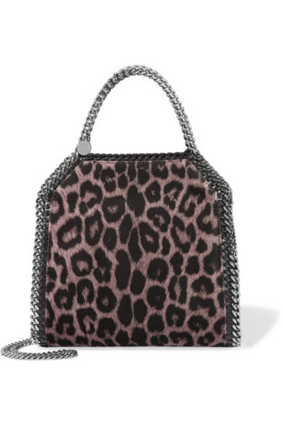 Stella McCartney - The Falabella Mini Leopard-print Velvet Shoulder Bag - Leopard print