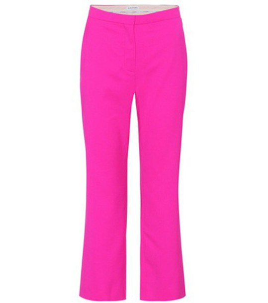 Altuzarra cropped wool pink pants