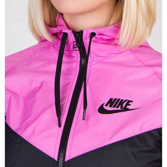 winter outfits jacket cold hi black and pink just do it wind windrunner windbreaker nike windrunner sportswear run swag swaggy party hot breaks wind stylish bf fe