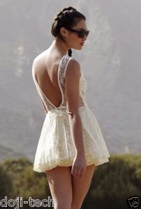 Jones & Jones Topshop Cream Lace Vivienne Mini Tutu Skater Prom Dress 10 8 38 S | eBay