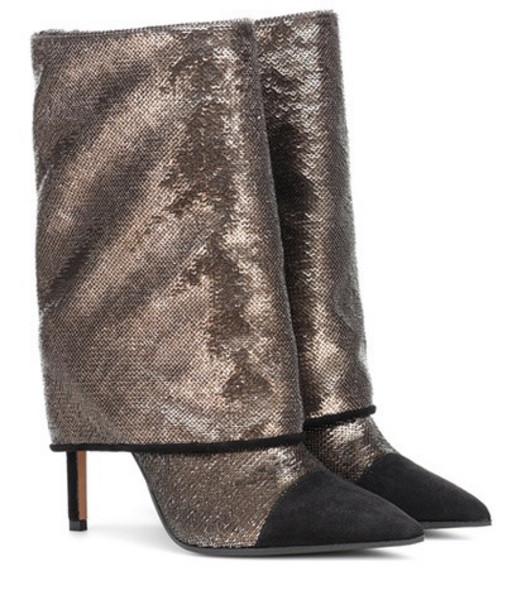 Balmain Babette metallic glitter boots