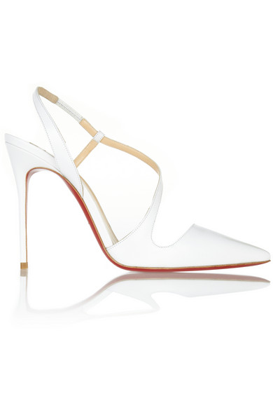 Christian Louboutin | June 100 leather slingback pumps | NET-A-PORTER.COM