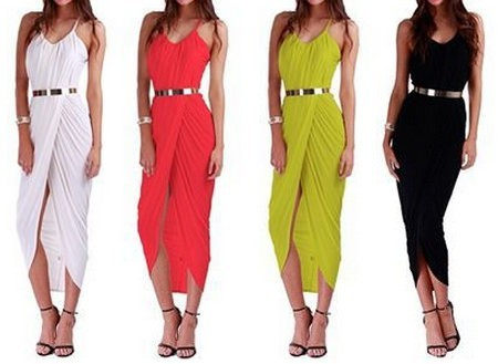 Outletpad | Sleeveless beach dress cross With metal belt Black | Online Store Powered by Storenvy