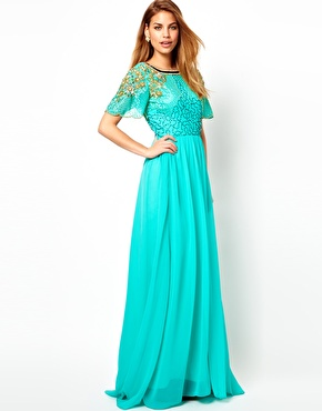 Virgos Lounge | Virgos Lounge Raina Embellished Shoulder Maxi Dress at ASOS