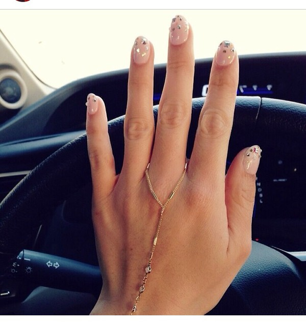 jewels ring boho nails accessories chain boho chic
