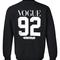 Vogue 92 sweatshirt back