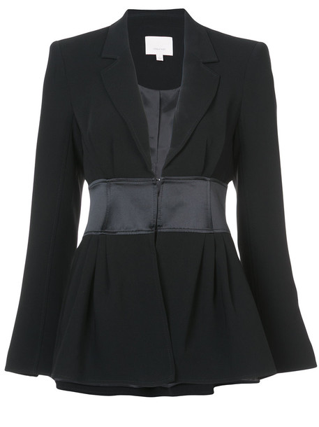 jacket women spandex black silk