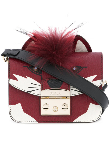 fox women bag leather red