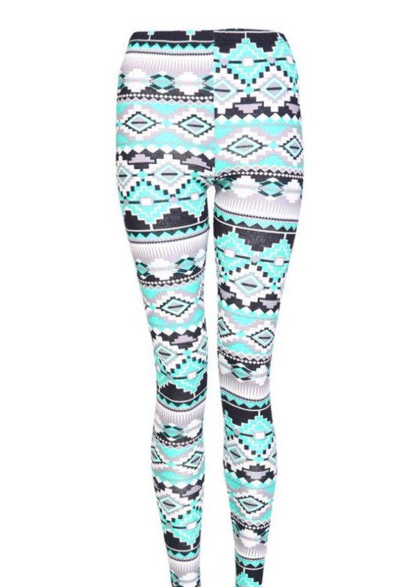 leggings aztec leggings aztec pattern blue leggings black leggings
