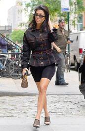 shoes,mules,mesh,shorts,jacket,celebrity,celebrity style,streetstyle,kourtney kardashian,kardashians,spring outfits