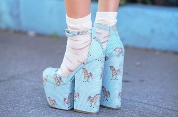Fashion Unicorn Aqua Sandals Peep toe ankle strap thick heel platform leather sandals Size 34 41-inSandals from Shoes on Aliexpress.com