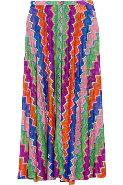 532ad86e891ff8 Missoni Mare Crochet-Knit Maxi Skirt in purple - Wheretoget