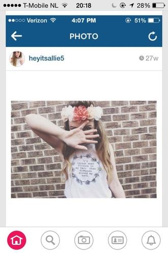 shirt white shirt flower daisy