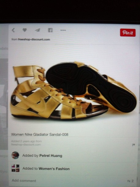 shoes gold nike