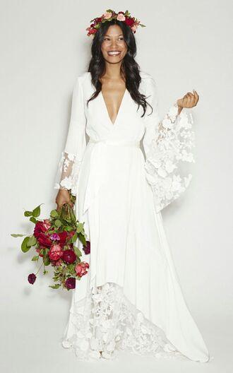 dress tenderness white dress hipster wedding