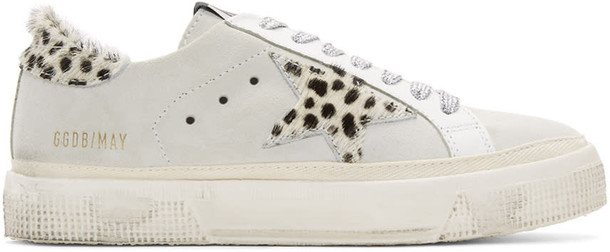 Golden goose sneakers white suede shoes