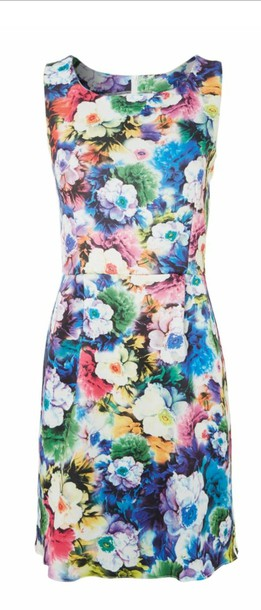 dress floral dress colorful bodycon
