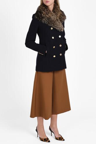 jacket fur women navy