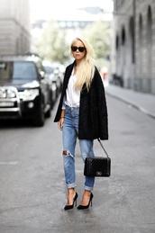 victoria tornegren,blogger,jacket,jeans,bag,shoes,chanel boy bag,boy bag,chanel bag,chanel boy