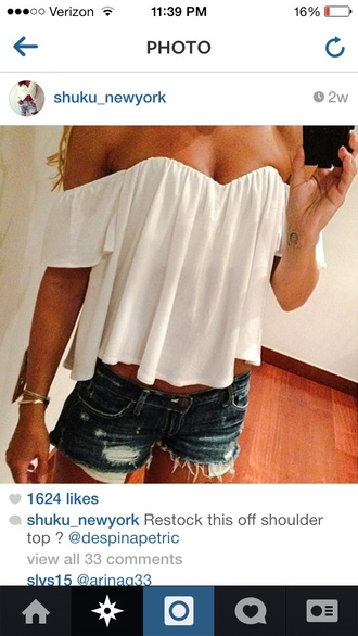 off the shoulder blouse cute boho chic white top hot white top boho shirt