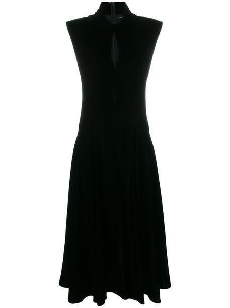 neil barrett dress high women black velvet