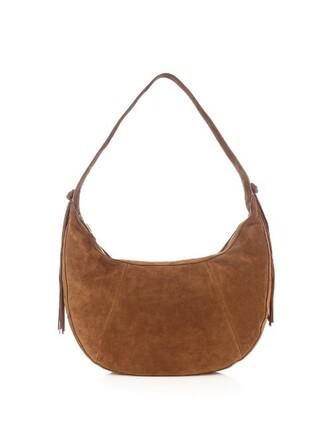 bag shoulder bag suede tan