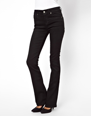ASOS | ASOS Lennox Kick Flare Jeans in Clean Black at ASOS