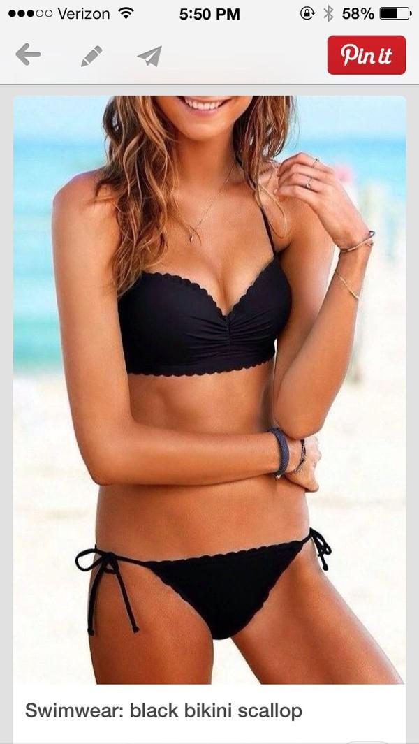swimwear cute bikini black