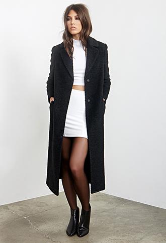 Textured Longline Duster Coat | Forever 21