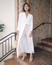 jacket,kimono,white kimono,pants,top,bag,shoes