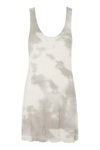 dress beach dress beach tie dye grey