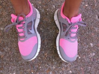 shoes pink gray nike nike running shoes