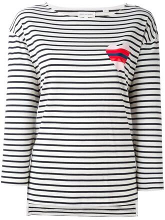 t-shirt shirt heart sailor blue top