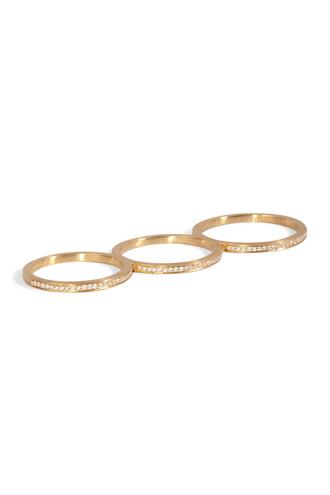 triple ring gold jewels