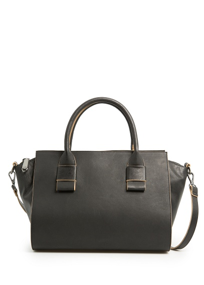 MANGO - NEW - Trapezium tote bag