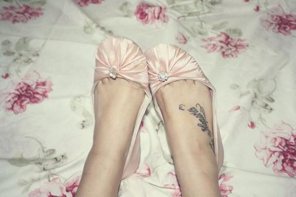 shoes princess pink cute nude diamonds