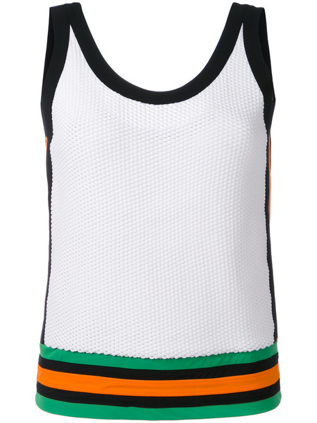 NO KA' OI tank top top women spandex white