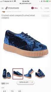 shoes,blue,creeper shoes