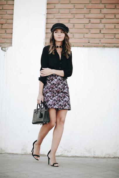 lovely pepa blogger skirt shirt shoes bag hat